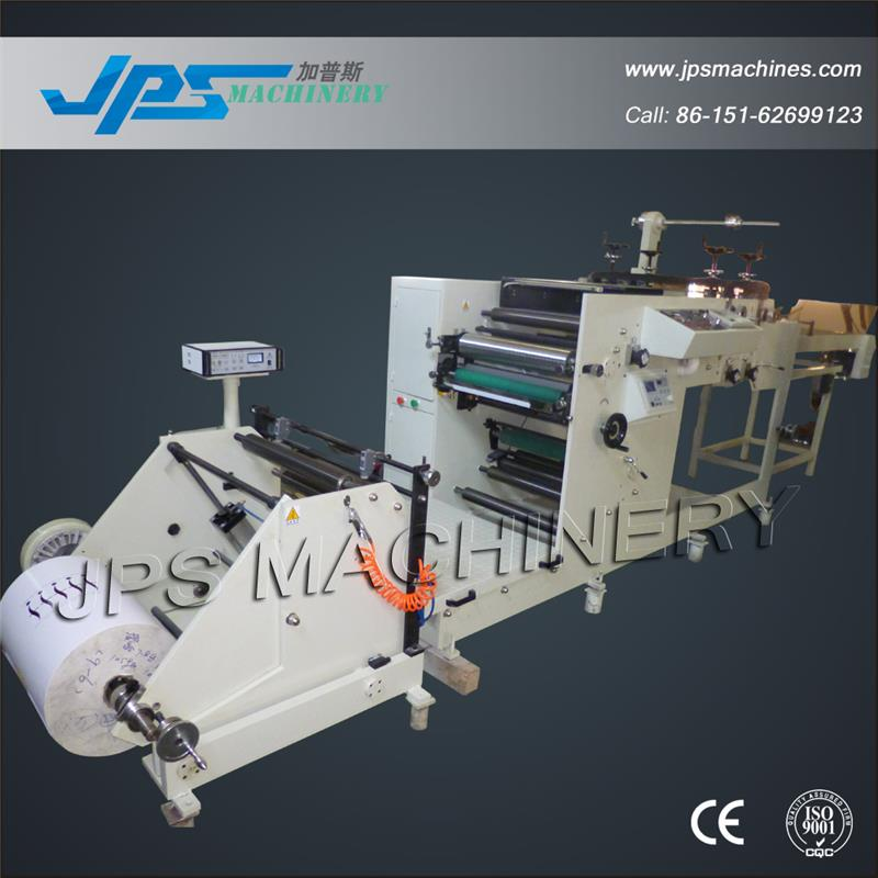 JPS320-1C-B One Colour Two Rotary Die Cutting Stations Self-adhesive Label Paper Printing Machine With Conveyor Belt