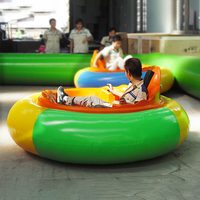New design inflatable kids round UFO battery bumper cars
