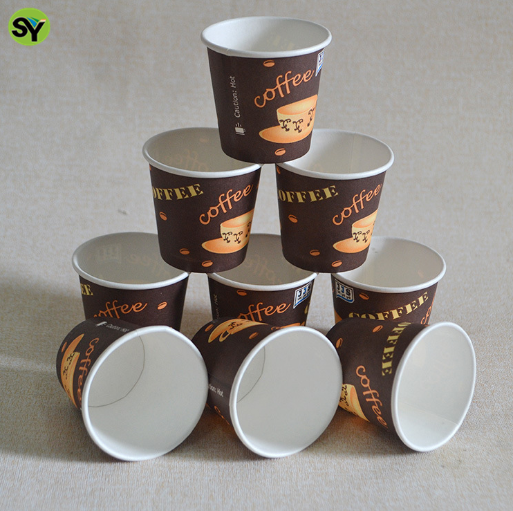 disposable/Custom log printed 6oz insulated paper coffee cups with logo