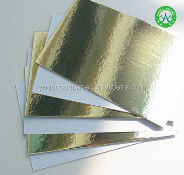 1mm - 3mm Thickness Card Board/Grey/White Back Paper Golden Cake Boards