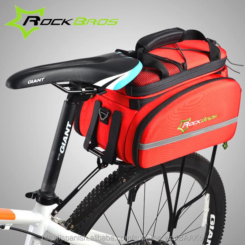 Vvciic Paquete Trasero de Bicicleta Bolsa de Maletero Accesorio Negro Bolsa Bicicleta Marco Paquete Bastidor Bastidor Almacenamiento Equipaje Accesorios