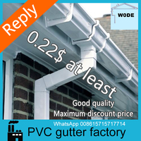 china whole sale 5.2 inch pvc gutter system/black and brown color gutters and pipes