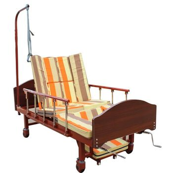 Multi-Configuration metal with backrest lateral tilt hospital bed