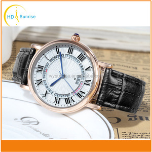 High quality 3atm hand leather strap custom quartz fastrack wrist watch for men