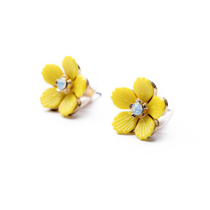 Minimalist Sweet Fresh Cute Alloy Yellow Girls Earrings