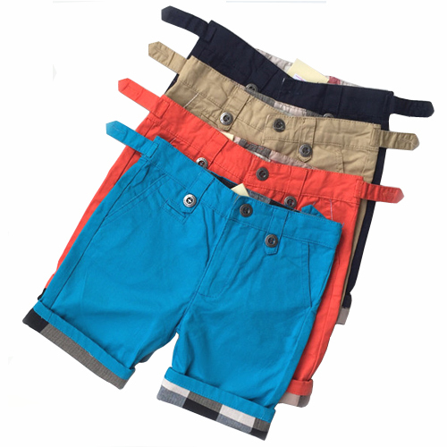 Wholesale price boys shorts 100% cotton shorts for boy 100% cotton kids clothes summer casual children clothing for 2-7 years
