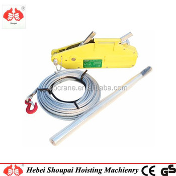 Lever Tractor Wire Rope Pulling Hoist Manual Handling Lift Equipment ...