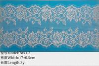 raschel eyelash lace knitted lace 17cm eyelash lace