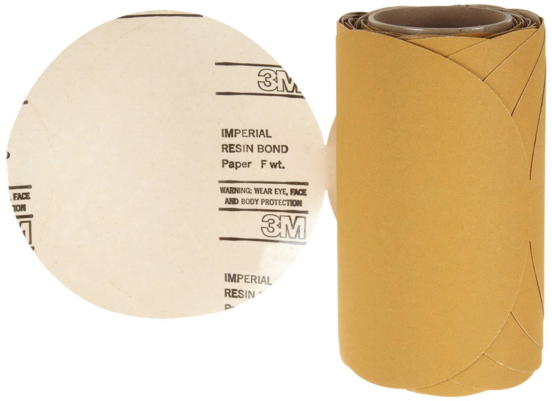 "3M Stikit Paper Disc Roll 363I, PSA Attachment, Aluminum Oxide, 8"" Diameter, P150 Grit (Roll of 50)"