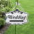 Rope hanging antique wood Welcome sign board