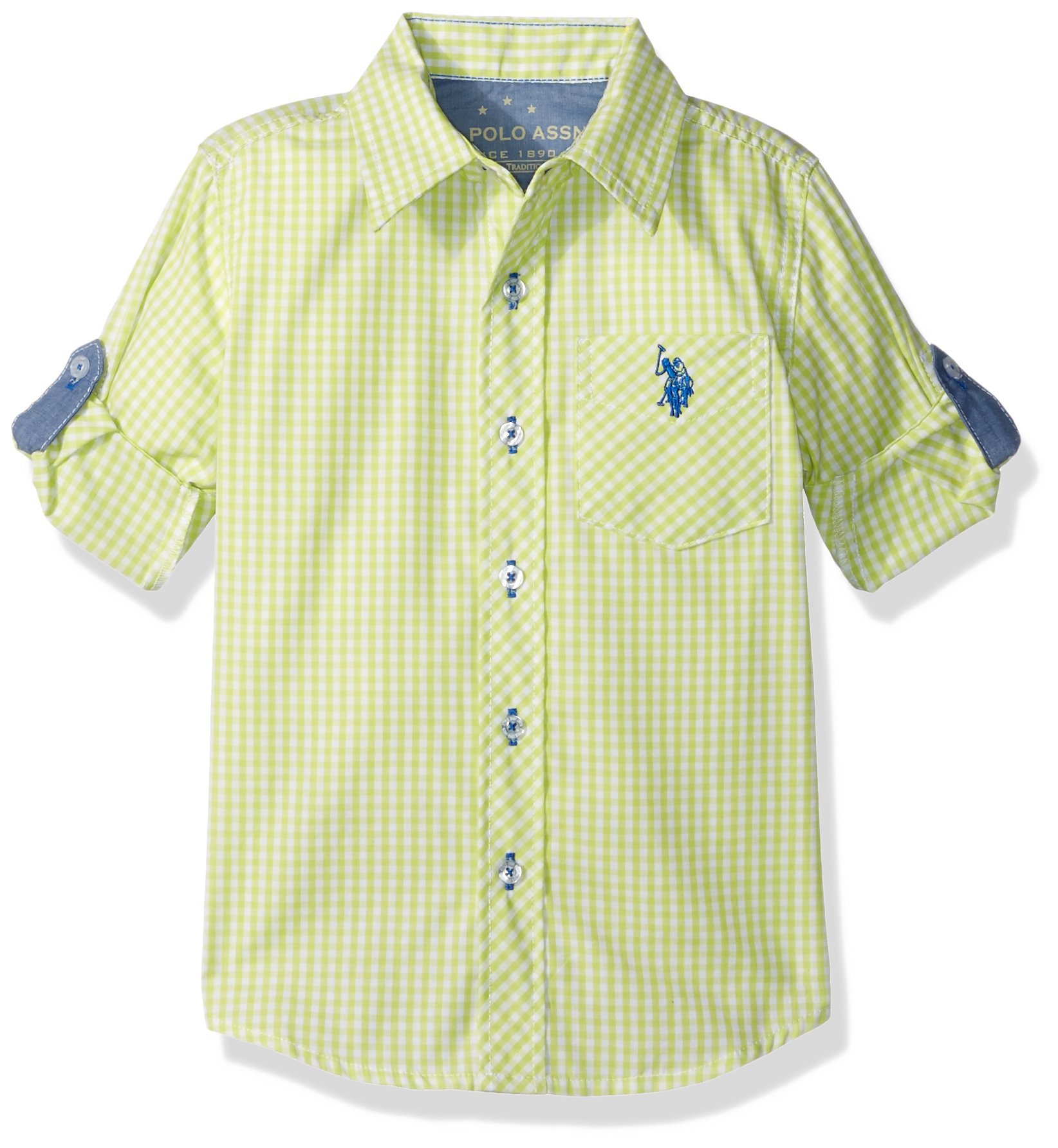 U.S. Polo Assn. Boys' Long Sleeve Plaid Or Check Cotton Sport Shirt