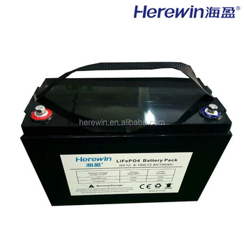 Herewin rechargeable lithium ion 12v 100ah li ion battery
