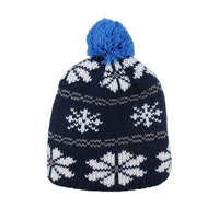 Custom Knitted Pom 100 Acrylic Wool Beanie Hats With Top Ball