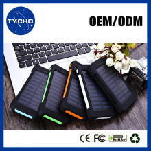 Mobile Solar Power Bank With Led Cheap Solar Battery Bank 15000mAh Waterproof Solar Phone Charger