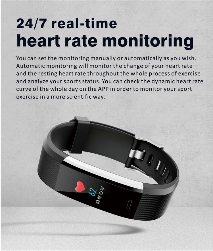 New ID115 Pro Fitness Tracker with Heart Rate Monitor Health