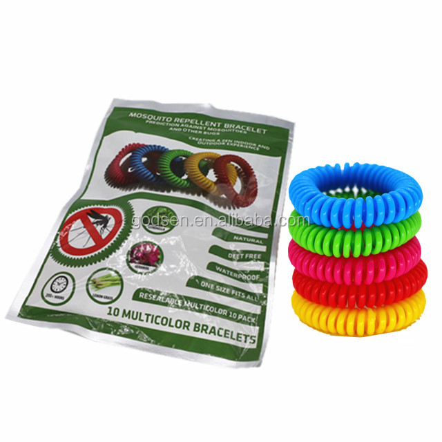2017 hot selling spiral mosquito repellent bracelet is the best effective mosquito killer