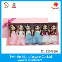 Princess girls doll kid toy mini makeup doll 7inch baby plastic doll baby