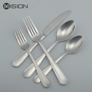 retro stainless steel cutlery flatware set with unique polish