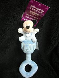DISNEY PARKS EXCLUSIVE : Mickey Mouse Plush Baby Rattle