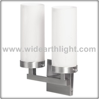 UL CUL Listed Modern Light Factory Double White Cylinder Glass Shades Bath&Vanity Sconce For Hotel Room W50344