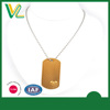 Factory Fashionable Die casting Laser engraved with heart Gold Gift Love dog tag sterling Necklaces for couples