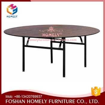 Factory cheap used wood wedding round banquet table