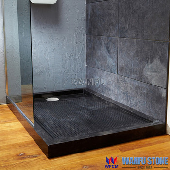 Black Cultured Marble Shower Wall Pannel And Shower Tray