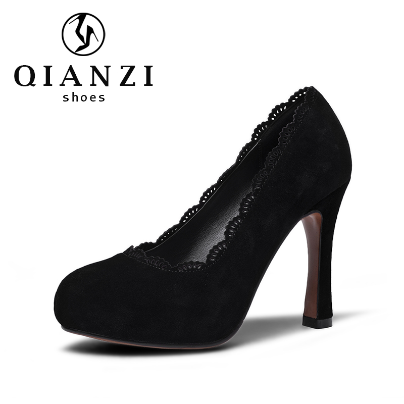 160 honest supplier offer black suede pumps and heels cheap on sale