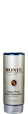 Monin Gourmet SUGAR FREE Dark Chocolate Sauce, 12 oz Squeeze Bottle