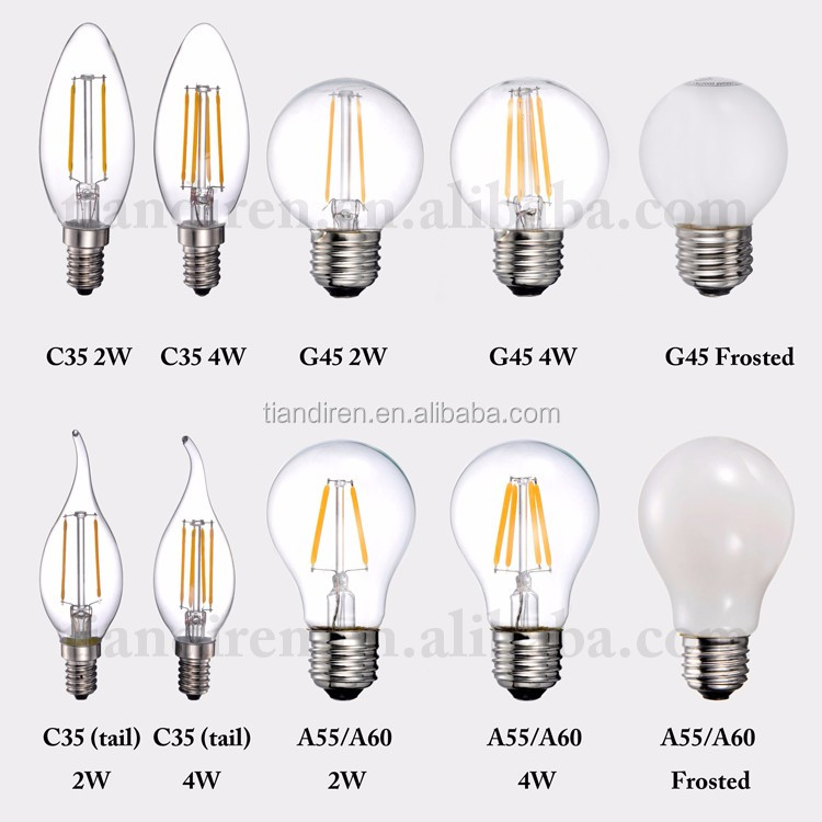 E27 220v Led Filament Type 2 Watt A55 Equal To 25 Watt Traditional Incandescent Light Bulb Buy