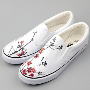 NO.G-W006 White Canvas Shoes Wholesale/China Canvas Shoes/Wholesale Canvas Shoes