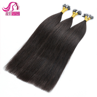8a grade wholesale brazilian russian straight Double Drawn Remy Human Hair Keratin I Tip Hair Extensions