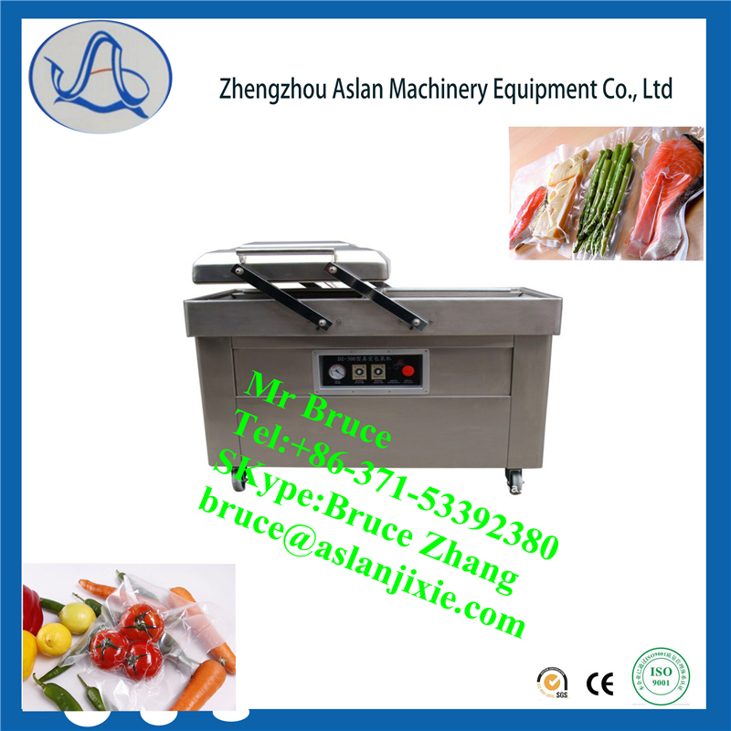 Factory price thermoforming /Pumping vacuum cooked food packaging machine/Double chamble vacuumpackaging machine