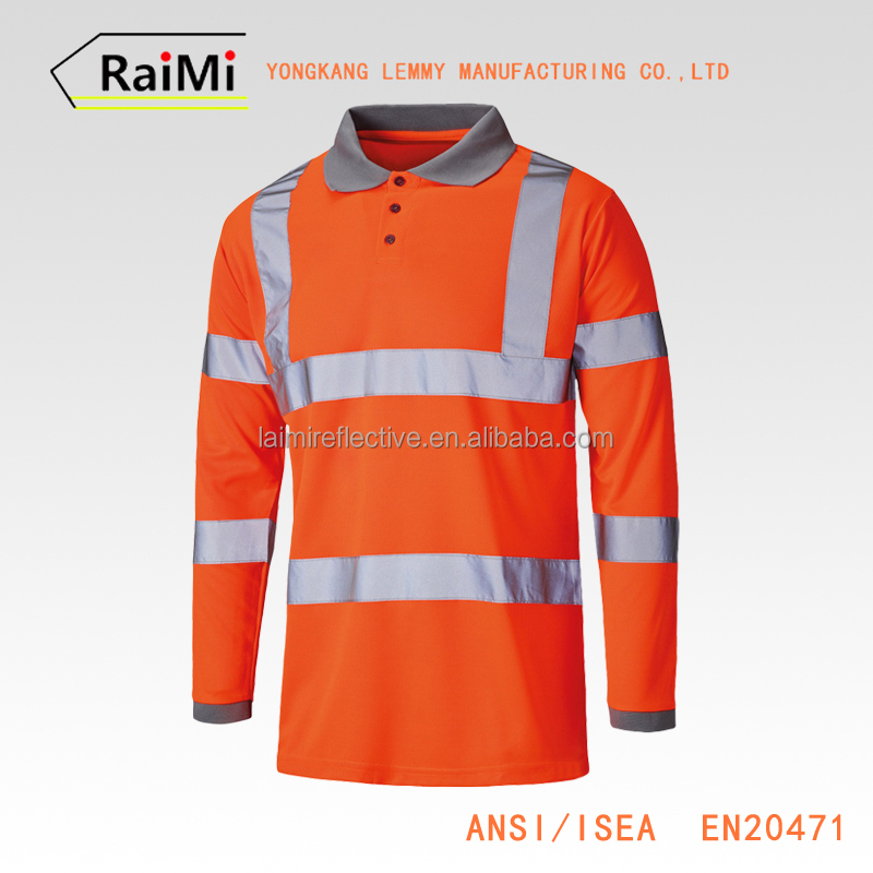 chinese Manufacturer OEM customized Guaranteed Quality reflective multicolored safety polo shirts