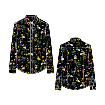 Custom Digital Printing Man Button Up Shirt/Button Down Shirt Men