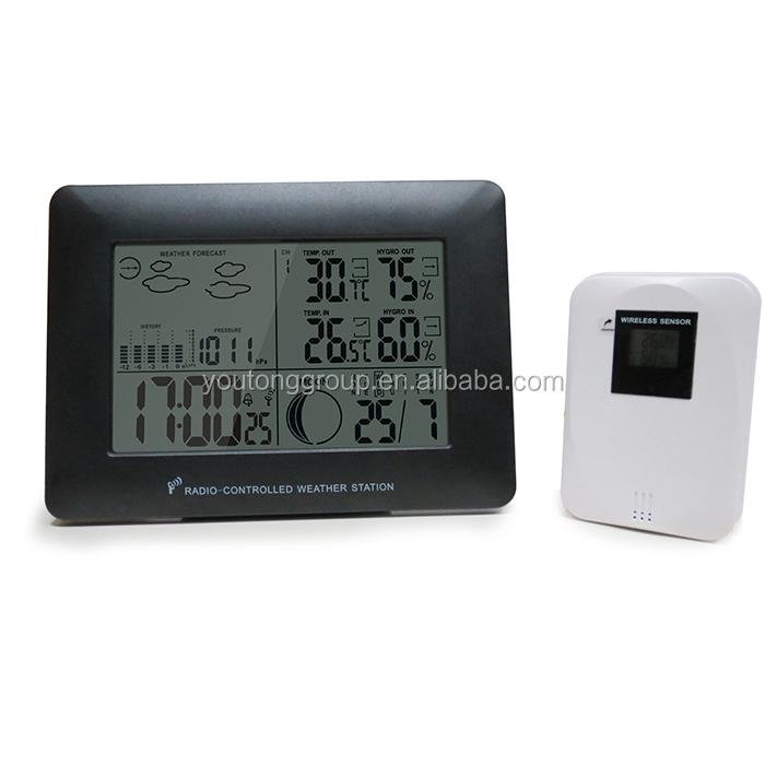 ABS Plastic Alarm Clock Ambient Analog Weather Station