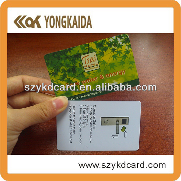Promotional RFID Contactless Hitag1 / Hitag2 PVCcard with factory price