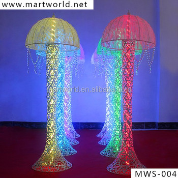 Umbrella crystal pillar for wedding with light crystal column umbrella crystal pillar for wedding with light crystal column wedding decorative wedding pillars wedding decoration junglespirit Images