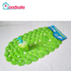 Green clear shell shape decorative PVC non slip tub bath mat safety shower mat