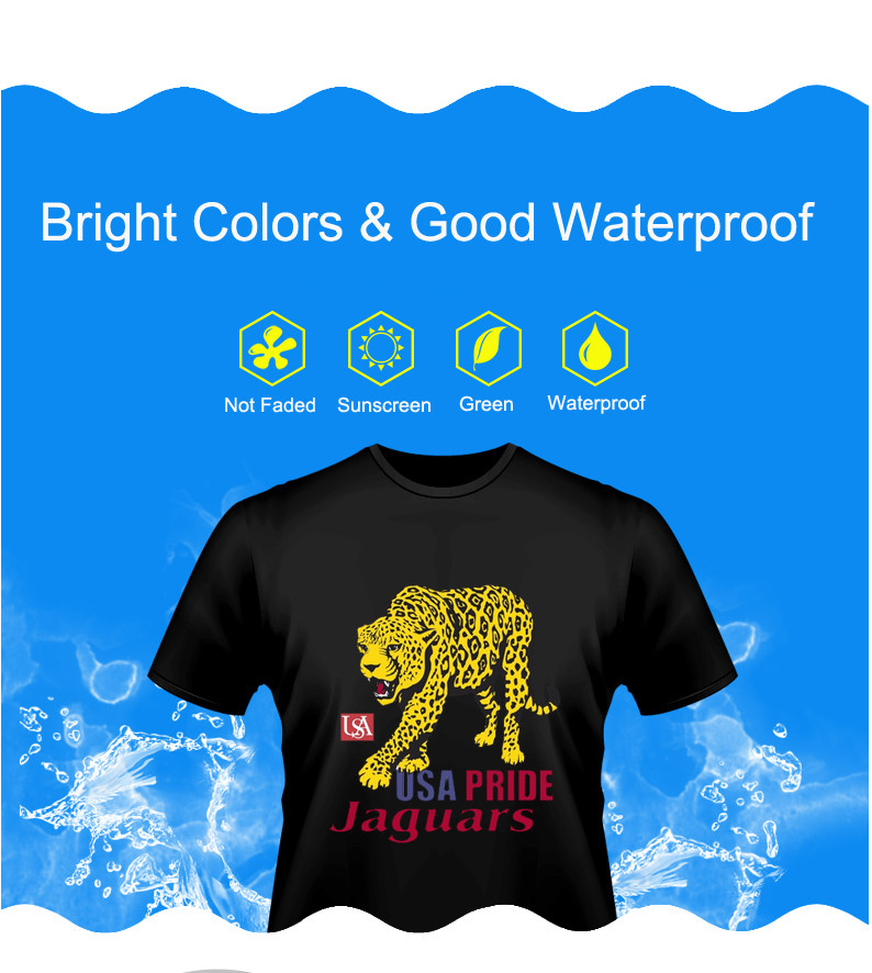 dark  good flexible  heat transfer paper A3  A4 size for cotton t-shirts fabric with inkjet  printer