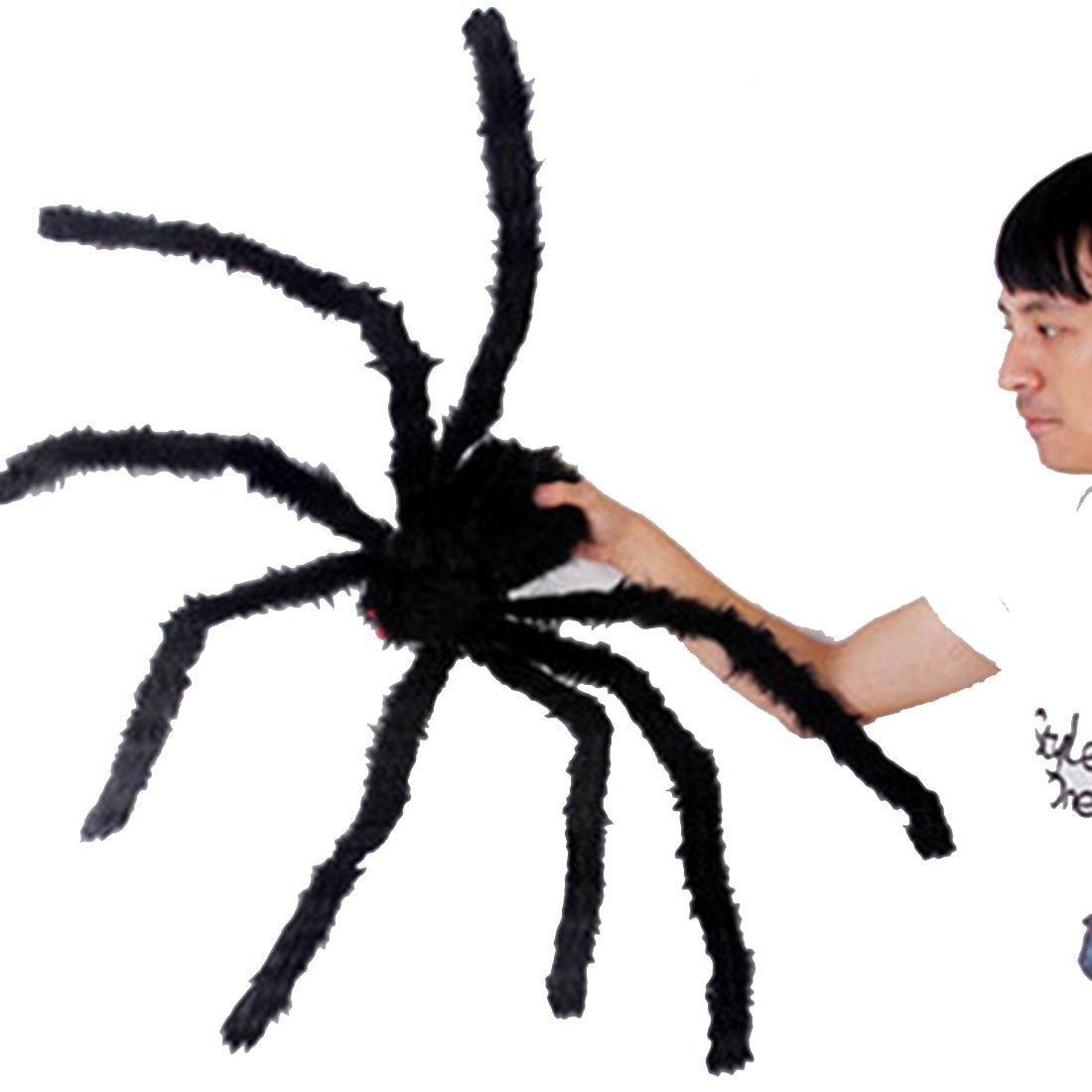 """Little Chair 11""""(30cm)/19""""(50cm)/29""""(75cm)/35""""(90cm)/49""""(125cm) Plush Black Spiders Halloween Home Party Decoration Toys (35""""(90cm))"""