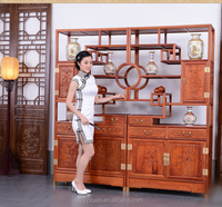 Luxury Chinese Classic Style Authentic Burmese Rosewood Living Room Furniture 100% Handmade Waterproof Durable Cabinet Divider