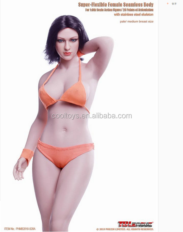 1//6 Female Body Model with Replace Hands Feet for Pichen TBLeague Action Figure