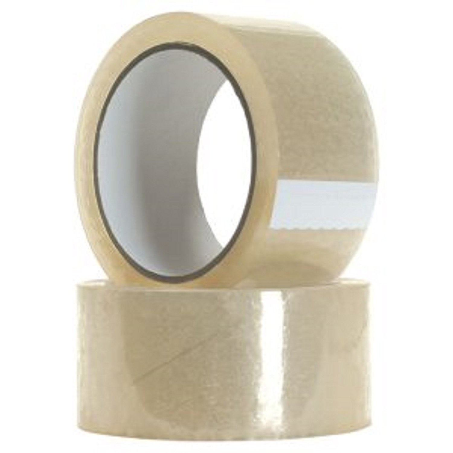 Extra Wide Clear Packing Tape, Pack of 2 Rolls, Extra Wide Extra Sticky Extra Value Packing Tape Roll Refill, 2.83 Inch Wide X 109.3 Yard long each Roll Great for moving boxes storage and shipping