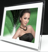 large size acrylic frame 14 inch battery operated digital photo frame