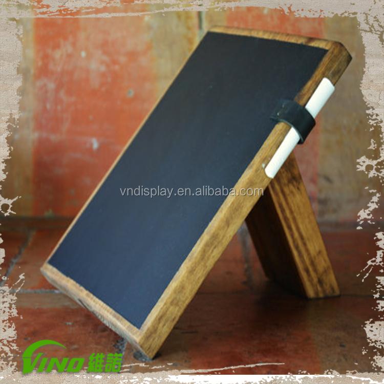 Chalkboard Stand, Chalkboard Sign, Wooden Chalkboard Table , Tabletop  Chalkboard