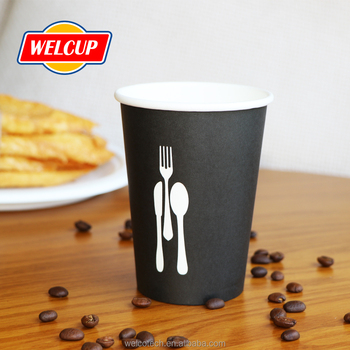 Single Double Ripple Wall Bulk Disposable Hot Coffee Paper Cups With Lids