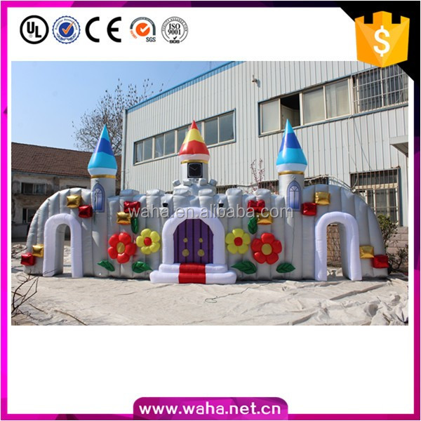 Outdoor castle advertising cheap inflatable entrance arch for sale