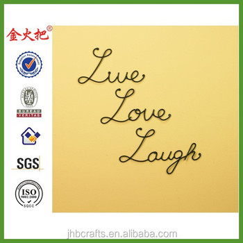 Nice Live Laugh Love Metal Wall Art Images - Wall Art Design ...