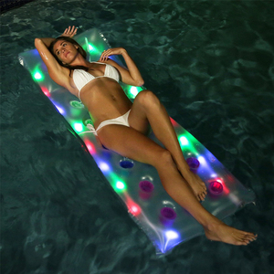 Beach LED Light Up Inflatable Float Bed Led Float Tube Inflatable Pool Float